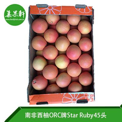 南非进口红宝石西柚Star Ruby品种 | ORC牌17公斤45头规格