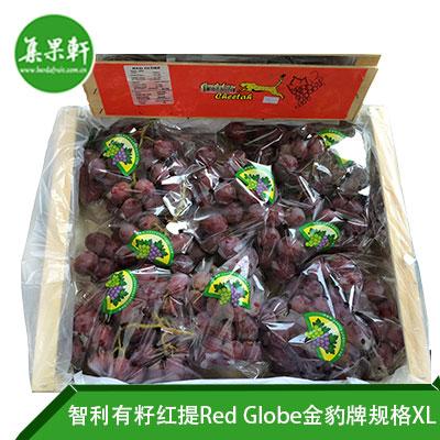智利进口有籽红提Red Globe品种 | 金豹牌8公斤XL规格