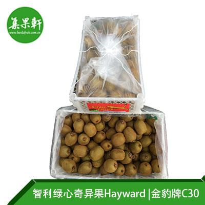 智利进口绿心奇异果Hayward品种 | 金豹牌10公斤C30规格
