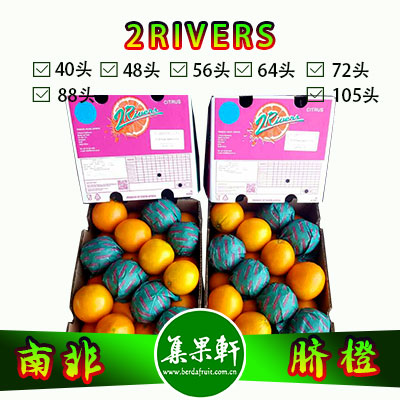 南非进口脐橙Navel品种 | 2rivers牌15公斤