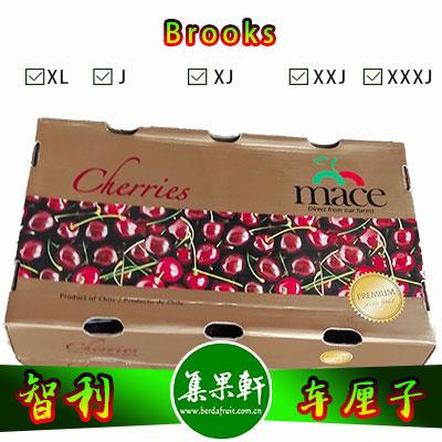 智利进口车厘子Brooks品种 | Mace牌2.5公斤SJ规格