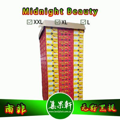 南非进口无籽黑提甜十三/午夜美人Midnight Beauty货源批发,金豹鲜果品牌,重量4.5公斤,规格X L,甜度高的黑葡萄,品质上佳,价格优惠