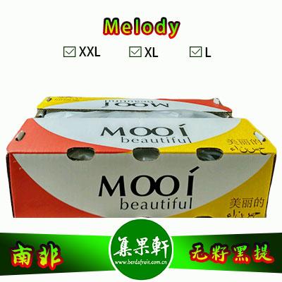 南非进口无籽黑提批发Melody旋律品种 , Mooi牌重量4.5公斤XL规格黑葡萄,好吃价格又实惠