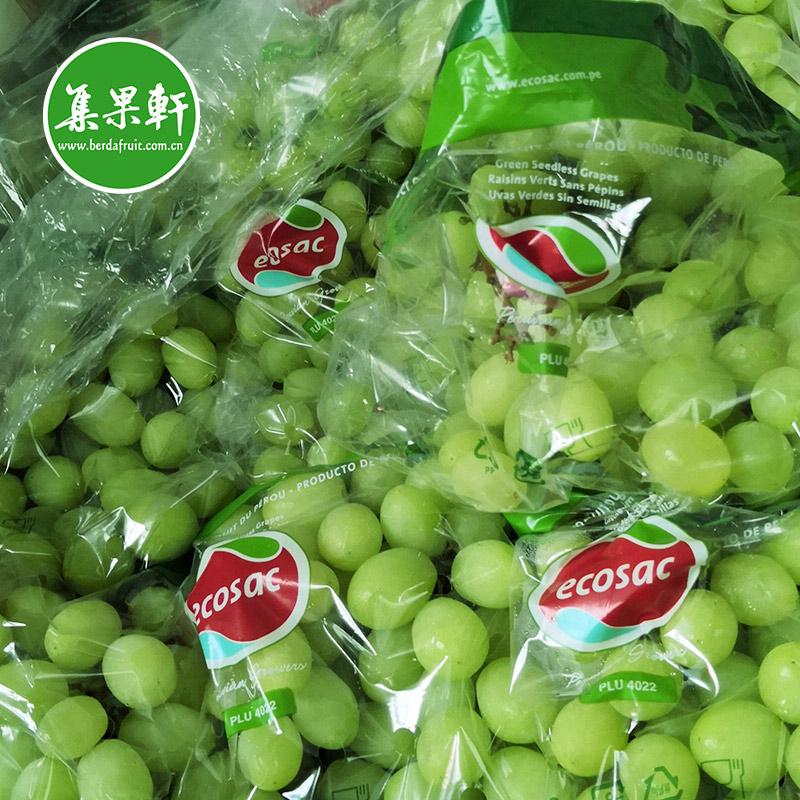 进口水果批发秘鲁无籽青提甜地球SWEETGLOBE 规格8.2公斤