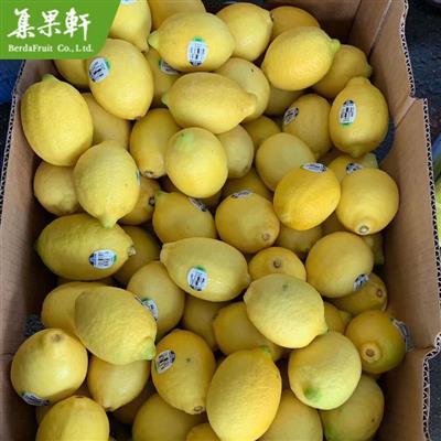 智利进口柠檬Eureka品种|Agircom牌尤力克黄柠檬货源17公斤