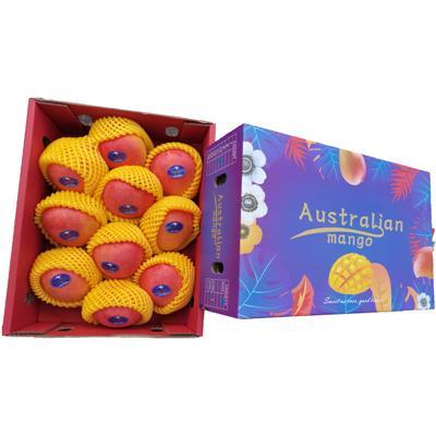 澳洲彩色芒果R2E2 巨无霸大澳芒进口货源批发供应 进口水果批发价 代购代发服务